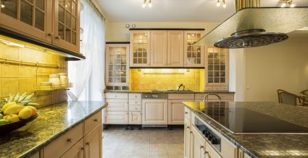 modern traditional integrated kitchen
