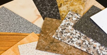 stone samples for worktops