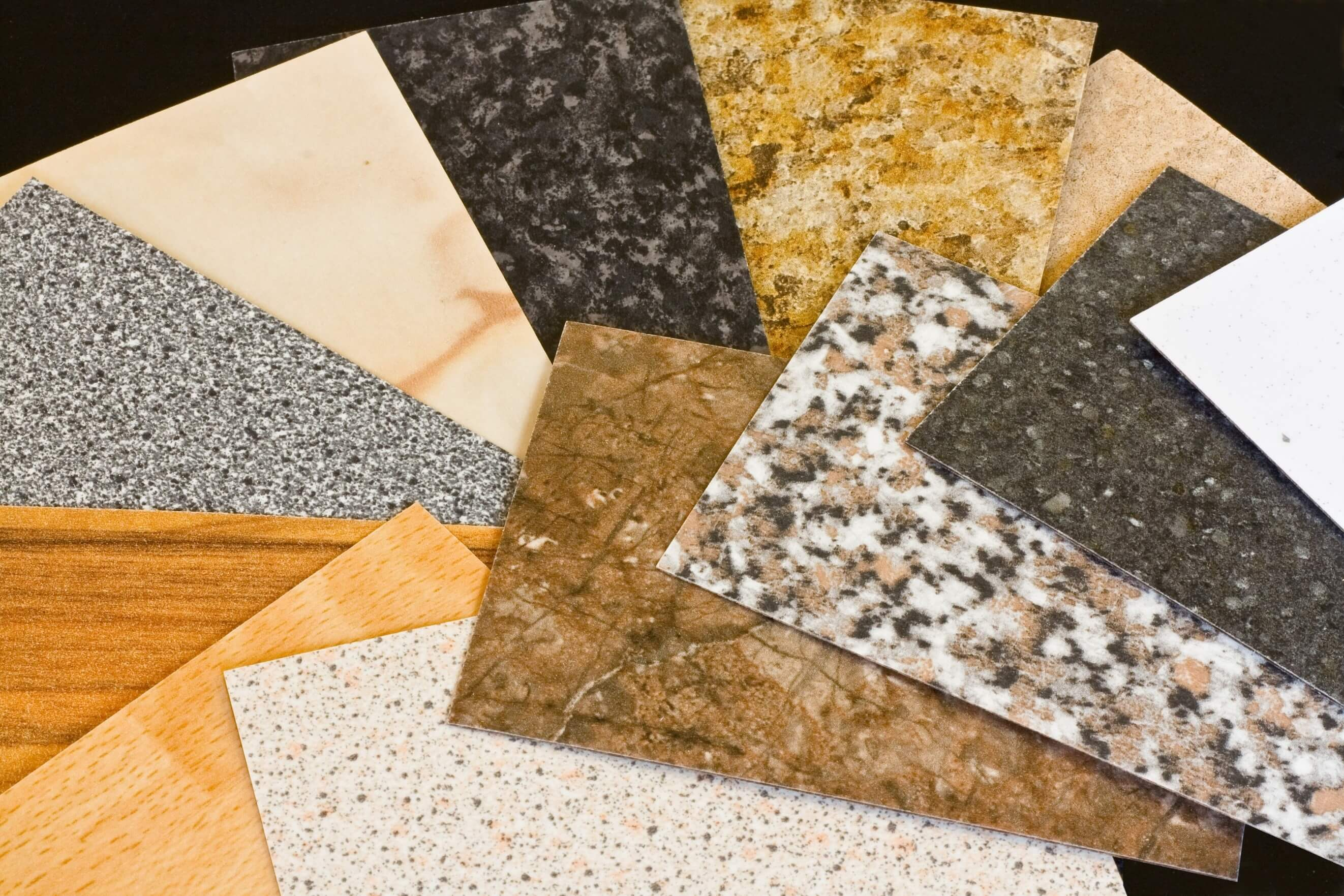stone samples for worktops