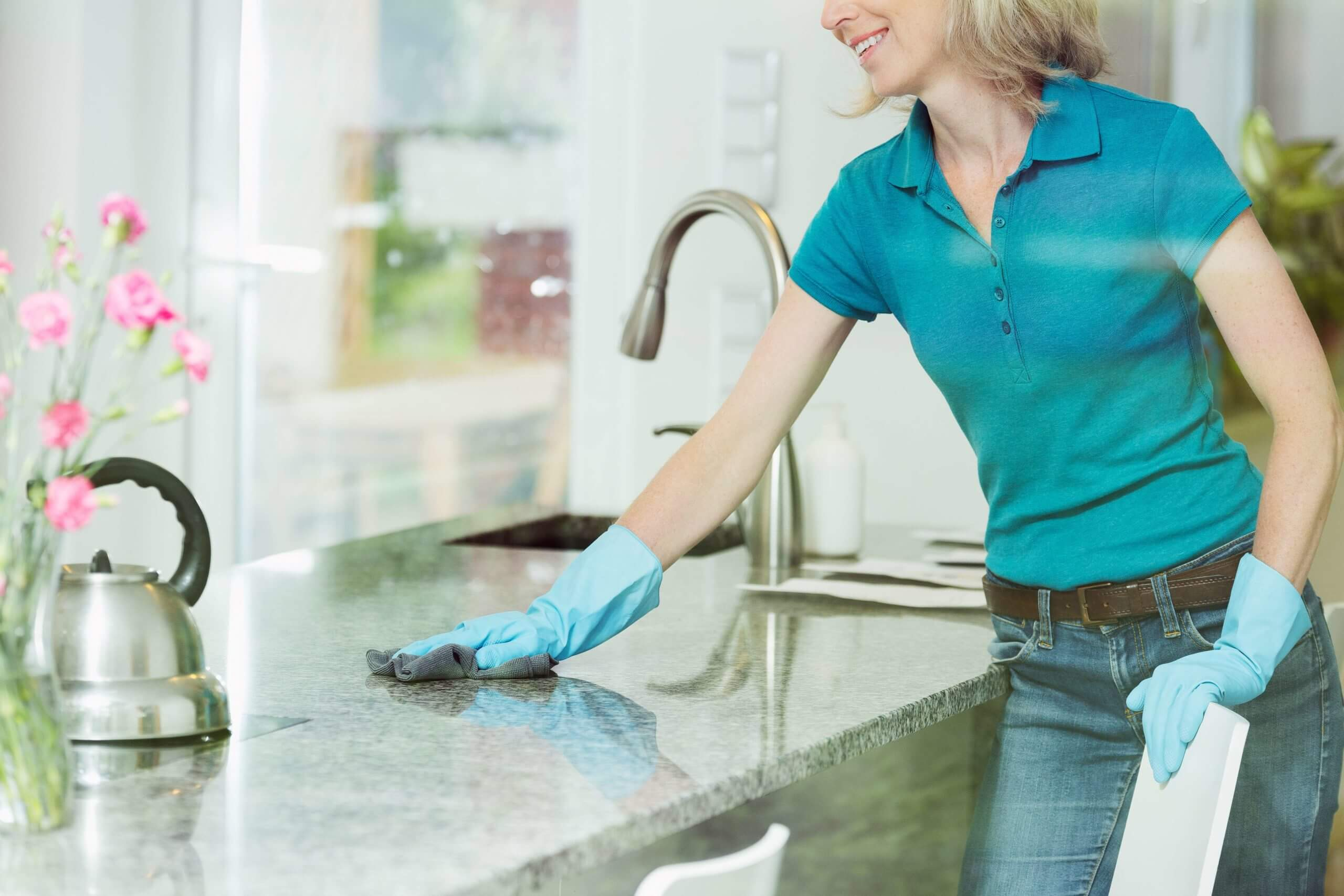 cleaning stone kitchen surface