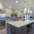 sleek modern kitchen design with a kitchen peninsula