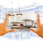 Female Hands Framing Custom Kitchen Design